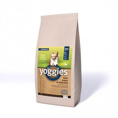 20kg Yoggies Hypoalergenní MINIGRANULE pro psy s kozím masem, lisované za studena