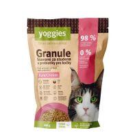 400g Yoggies Granule pro kočky s kuřecím masem, lisované za studena s probiotiky