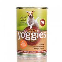 400g Yoggies hovězí konzerva pro psy s karotkou a lněným olejem