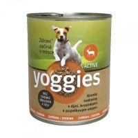 400g Yoggies zvěřinová konzerva pro psy s dýní a pupálkovým olejem.