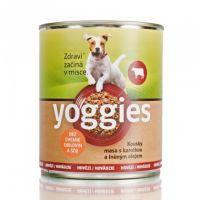 800g Yoggies hovězí konzerva pro psy s karotkou a lněným olejem