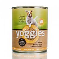 800g Yoggies krůtí konzerva pro psy s batáty a bodlákovým olejem