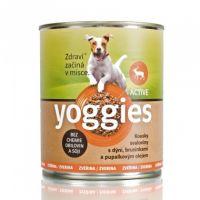 800g Yoggies zvěřinová konzerva pro psy s dýní a pupálkovým olejem.