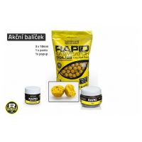 Akční balíček boilie a doplňků Rapid - Ananas+N.BA.