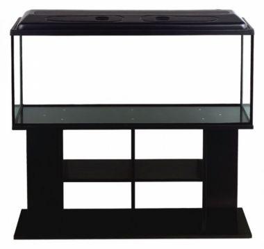 Akvarijní komplet  DIVERSA 100 - 200 l rovný černý
