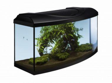 Akvarijní set  80 cm černý oblý s technikou dle výběru