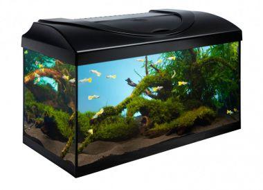 Akvarijní set  80 cm černý rovný s technikou dle výběru