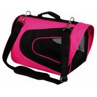 ALINA bag, nylonová přepravní taška se síťkou 27x27x35 cm - růžovo/černá max.5 kg
