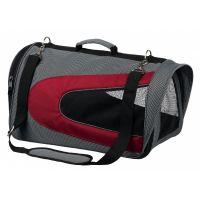 ALINA bag, nylonová přepravní taška se síťkou 27x27x52 cm - šedá/bordó max 6kg