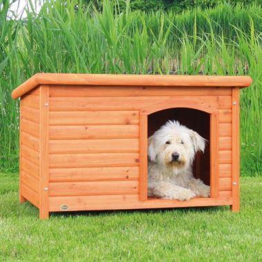 Bouda pro psa, dřevěná, rovná střecha S-M 85x58x60 cm TRIXIE