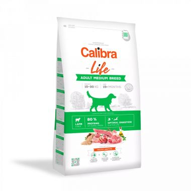 Calibra Dog Life Adult Medium Breed Lamb 12kg