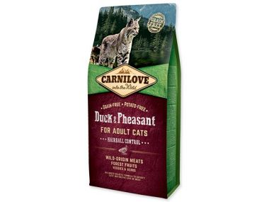 CARNILOVE Duck and Pheasant adult cats Hairball Control (6kg)