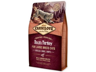 CARNILOVE Duck and Turkey Large Breed cats Muscles, Bones, Joints (2kg)