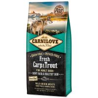 CARNILOVE Fresh Carp & Trout Shiny Hair & Healthy Skin for Adult dogs (12kg)