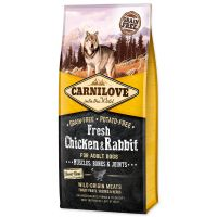 CARNILOVE Fresh Chicken & Rabbit Muscles, Bones & Joints for Adult dogs (12kg)