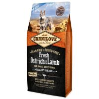 CARNILOVE Fresh Ostrich & Lamb Excellent Digestion for Small Breed Dogs (6kg)