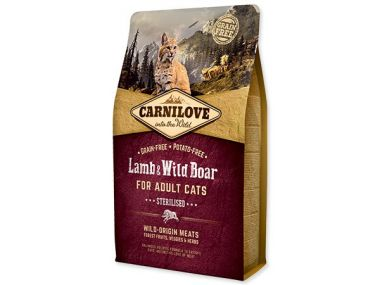 CARNILOVE Lamb and Wild Boar adult cats Sterilised (2kg)