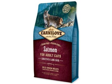 CARNILOVE Salmon Adult Cats Sensitive and Long Hair (2kg)