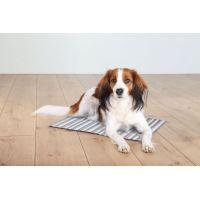 Chladící podložka pro zvířata, proužkovaná 50 x 40 cm bílo/šedá