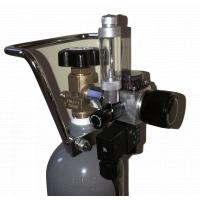 CO2 set Akvamex style s regulátorem Strideways s nočním vypínáním, láhev 2 litry