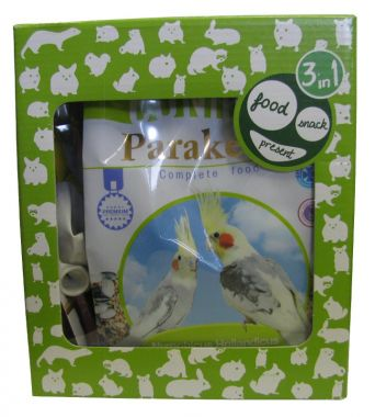 Cunipic Happy Pack Parakeet - promo balíček Korela 650 g + minerální Calcium blok