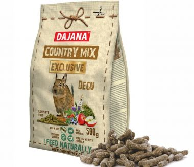 Dajana – COUNTRY MIX EXCLUSIVE, osmák degu 500 g, krmivo pro osmáky