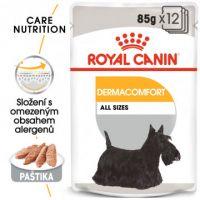 ROYAL CANIN Dermacomfort Dog Loaf kapsička s paštikou pro psy s problémy s kůží 12x
