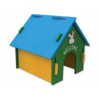 Domek SMALL ANIMAL dřevěný barevný 30 x 29,5 x 29,5 cm (1ks)