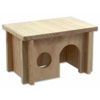Domek SMALL ANIMAL dřevěný hladký 20 x 13 x 12 cm (1ks)