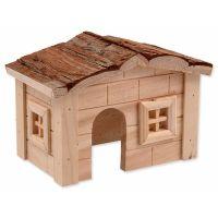 Domek SMALL ANIMAL dřevěný jednopatrový 20,5 x 14,5 x 12 cm (1ks)