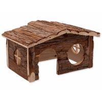 Domek SMALL ANIMAL dřevěný jednopatrový 28,5 x 19,5 x 16,5 cm (1ks)
