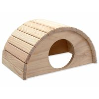 Domek SMALL ANIMAL Půlkruh dřevěný 31 x 20 x 15,5 cm (1ks)