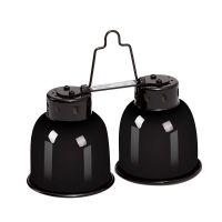 Dvojitá lampa se stínítkem na žárovky 2 x 40W