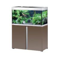 EHEIM Akvárium Proxima 250, lesklá mokka, včetně stolku, 2x39 W T5