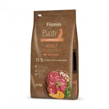 Fitmin Purity Adult Beef Grain Free kompletní krmivo pro psy 12 kg + 1 kg zdarma