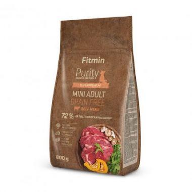 Fitmin Purity Adult Mini Beef Grain Free kompletní krmivo pro psy 0,8 kg