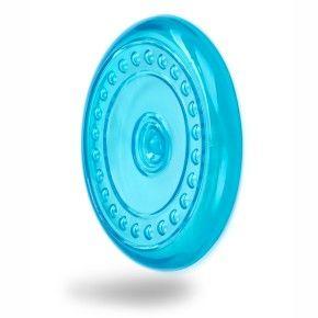 Frisbee - létající talíř - modrý, odolná (gumová) hračka z termoplastické pryže