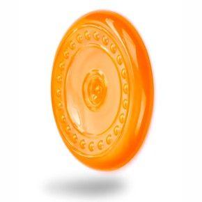 Frisbee - létající talíř - oranžový, odolná (gumová) hračka z termoplastické pryže
