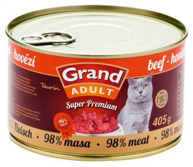 Grand Cat konz. - hovězí 405 g