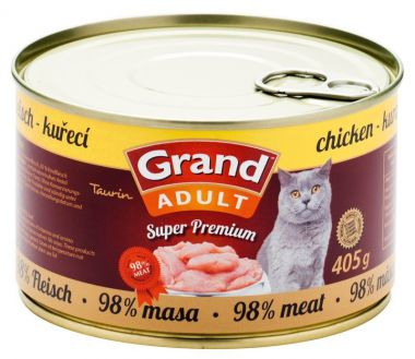Grand Cat konz. - kuřecí 405 g