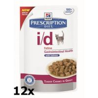 Hill's Prescription Diet Feline I/D kapsička Salmon 12 x 85 g