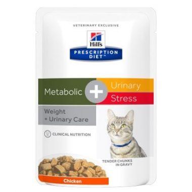 Hill's Prescription Diet Feline Metabolic + Urinary Stress kapsička 12 x 85 g