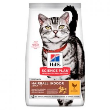 """Hill's Science Plan Feline Adult Hairball """"for Indoor cats"""" Chicken 10 kg"""