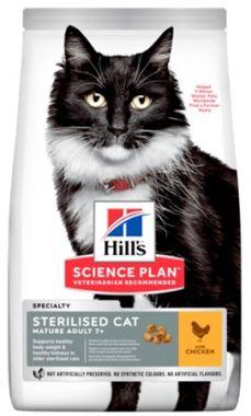 Hill's Science Plan Feline Mature Adult 7+ Sterilised Chicken 10 kg
