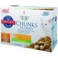 HILL´S cat kapsa ADULT multipack 12ks kuře,krůta