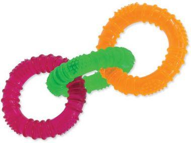 Hračka DOG FANTASY 3 kruhy gumové barevné 16 cm (1ks)