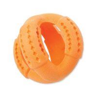 Hračka DOG FANTASY FTPR míč na pamlsky oranžový 11 cm (1ks)