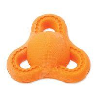 Hračka DOG FANTASY FTPR triangl na pamlsky oranžový 13 cm (1ks)