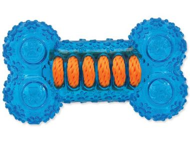 Hračka DOG FANTASY kost gumová modrá 12 cm (1ks)