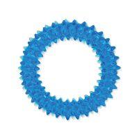 Hračka DOG FANTASY kroužek vroubkovaný modrý 7 cm (1ks)
